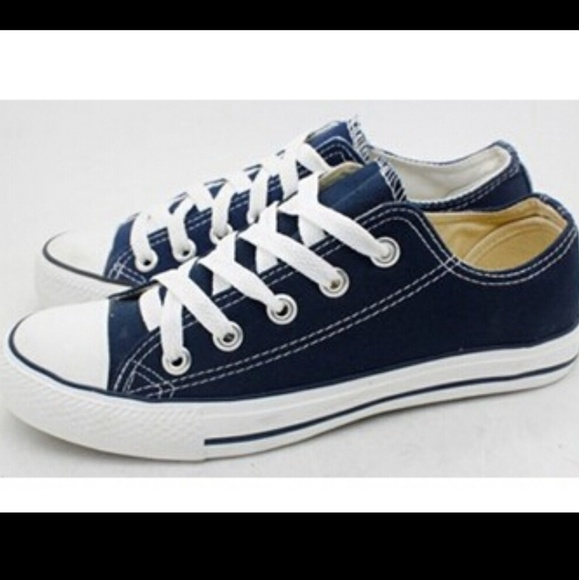 2cb101a7d138 Converse blue chuck Taylor all star low tops.